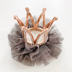 Princess Crown Hair Clip - Grey