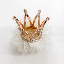 Load image into Gallery viewer, Princess Crown Hair Clip - Ivory