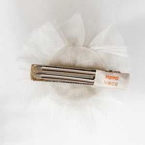 Princess Crown Hair Clip - Ivory