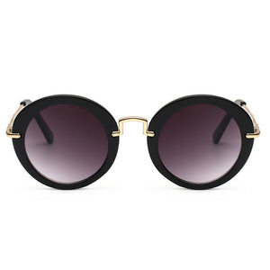 S046 - Round Sunglass - Black