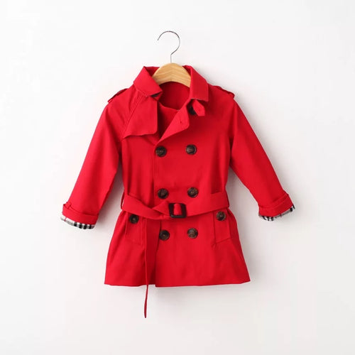 Trench Coat - Red