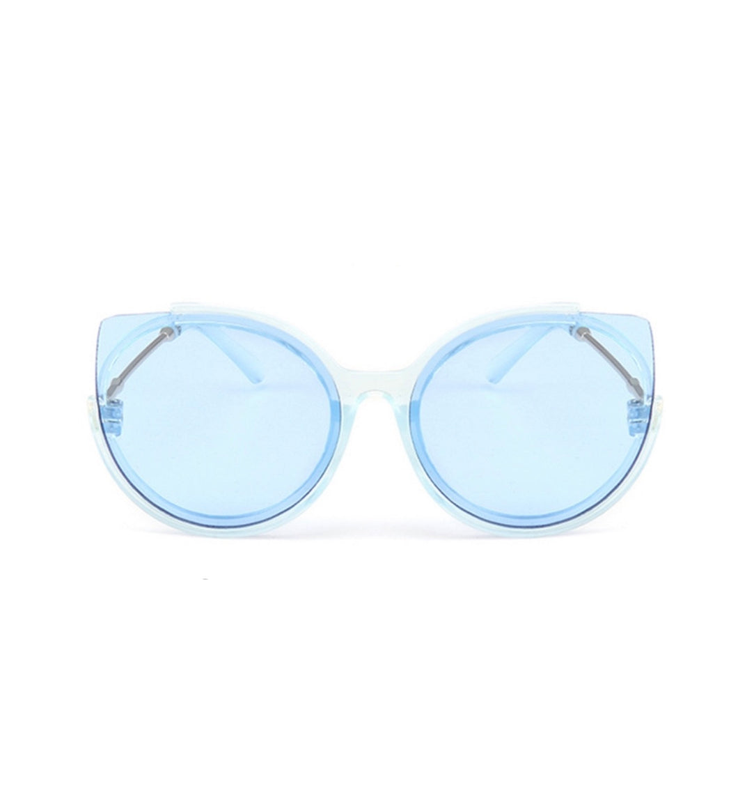 S034 - Frameless Cat Eye Sunglass - Blue