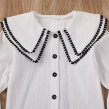 Load image into Gallery viewer, Collar Top & Shorts (White)