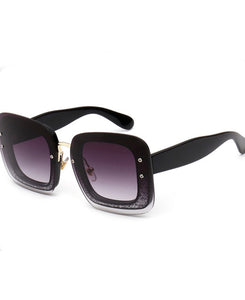 S014 - Black Frameless Sunglass