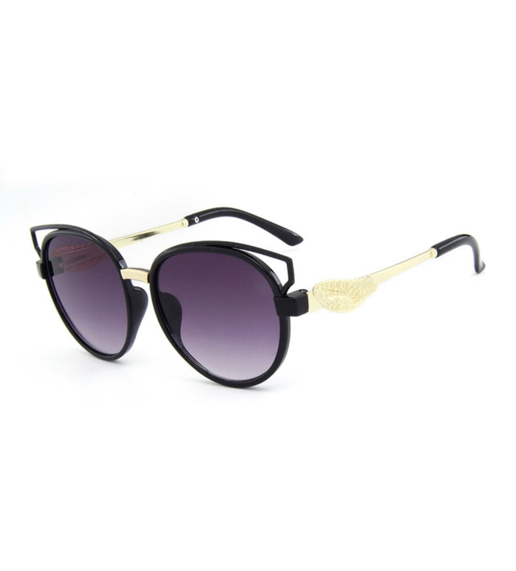 S042 - Black & Gold Sunglass