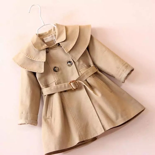 Girls Trench Coat - Khaki
