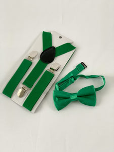 Bow Tie + Suspenders - Green