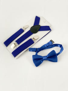 Suspenders & Bow Tie - Royal Blue