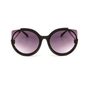 S033 - Frameless Cat Eye Sunglass - Black