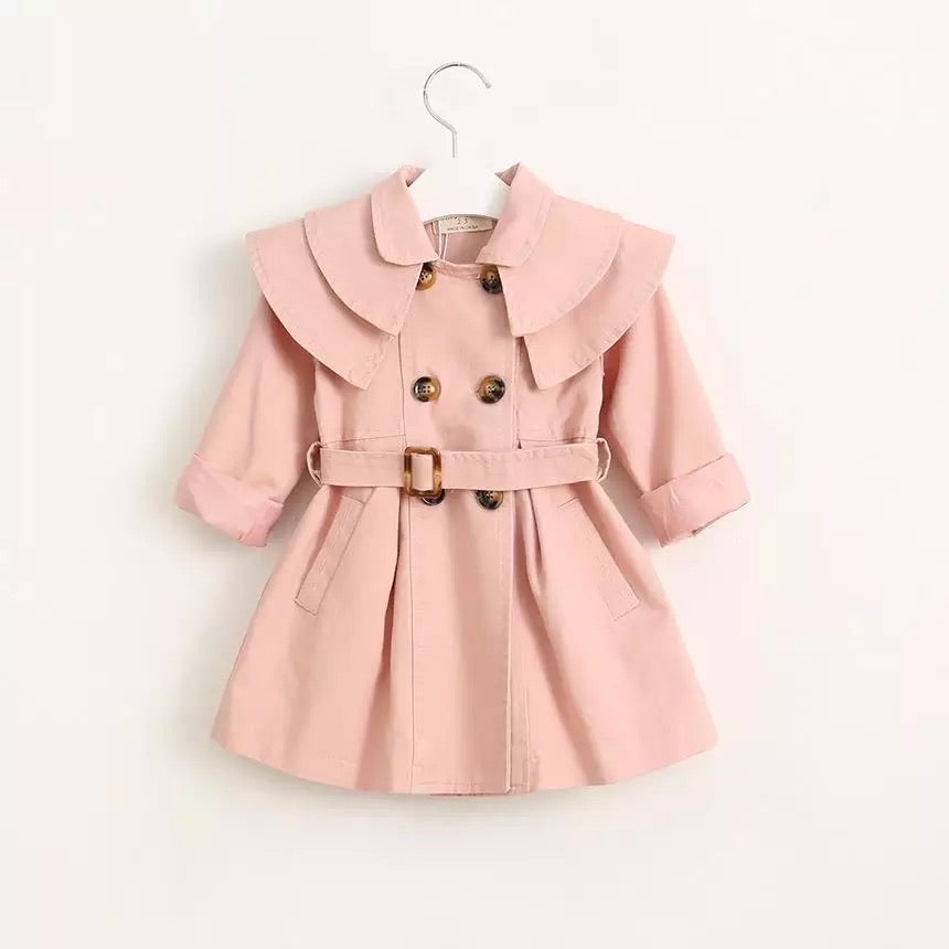 Girls Trench Coat - Pink
