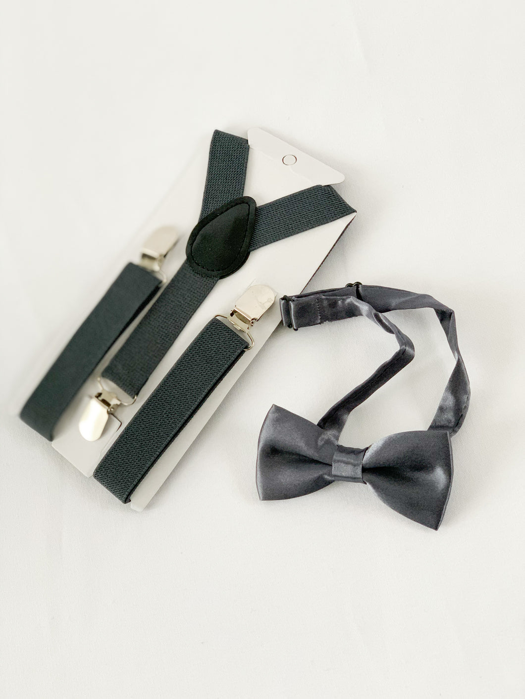 Bow Tie + Suspenders - Steel Grey