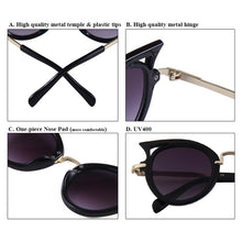 Load image into Gallery viewer, S026 - Cat Eye Sunglass - Black