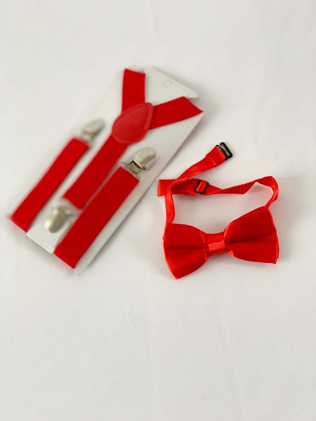 Bow Tie + Suspenders - Red