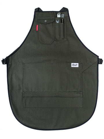 Squire Double-Layer Workshop Apron - Dark Green/Black