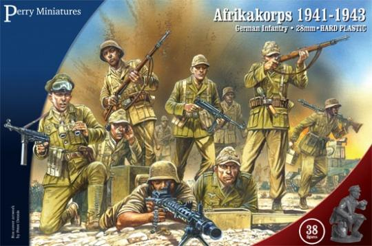Perrys miniatures 28mm plasticAfrikakorps. German Infantry 1941-43