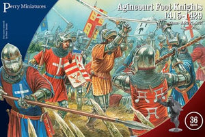 French English Knights Agincourt Perry miniatures plastic 28mm