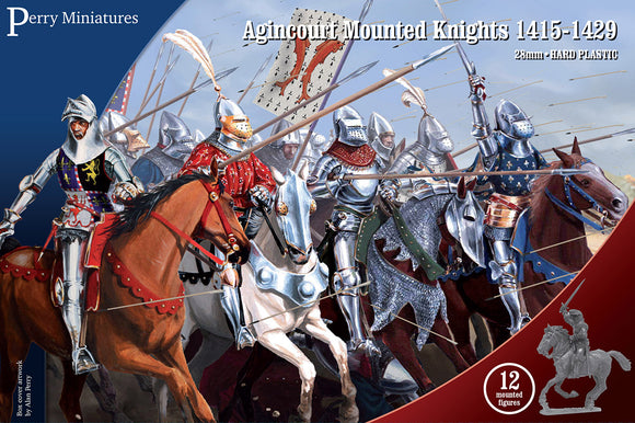 Mounted knights cavalry Agincourt French