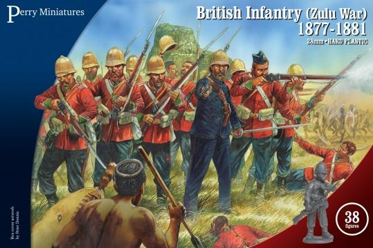 Perry miniatures-28mm Plastic figures- British Infantry 1877-1881