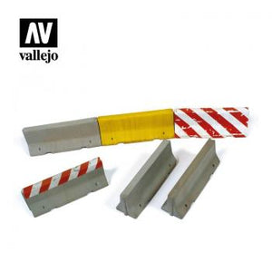 Vallejo Scenics - 1:35 Concrete Barriers