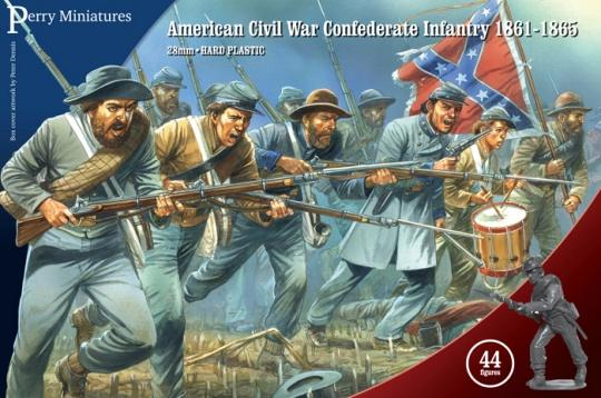 Perry Miniatures- American Civil War- Confederate Infantry regiment-1861-1865