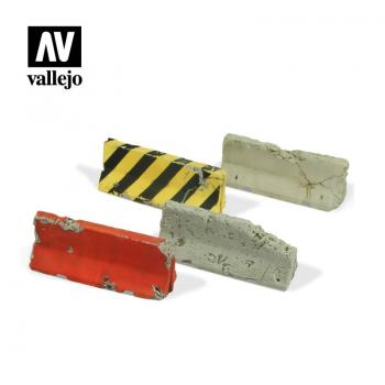 Vallejo Scenics - 1:35 Damaged Concrete Barriers