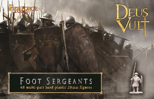 Foot Sergeants Plastic Foot Sergeants from Fireforge Games.  48 figures per box 28mm sized
