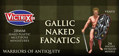 Gallic Naked Fanatics Warriors Miniatures