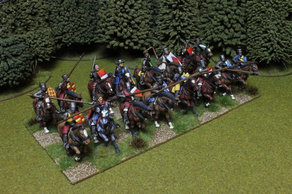 Medieval Knights Box of 16 multi-part, hard plastic mounted Conquest Games