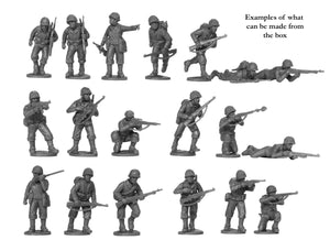 Plastic US Infantry miniature figures 28mm