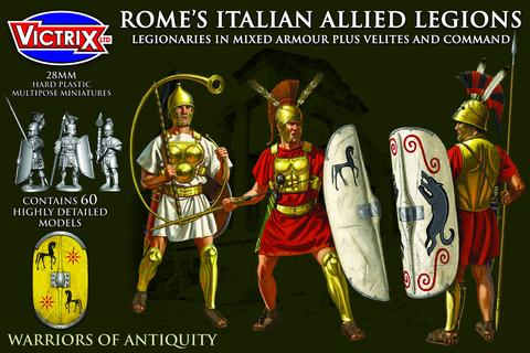 Victrix: Rome's Italian Allied Legions. Legionaries in mixed armour plus Velites and Command