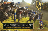 Scandinavian Infantry heavy armour Bowmen two-handed axe sword Spear Figures unpainted 28mm Deus Vult