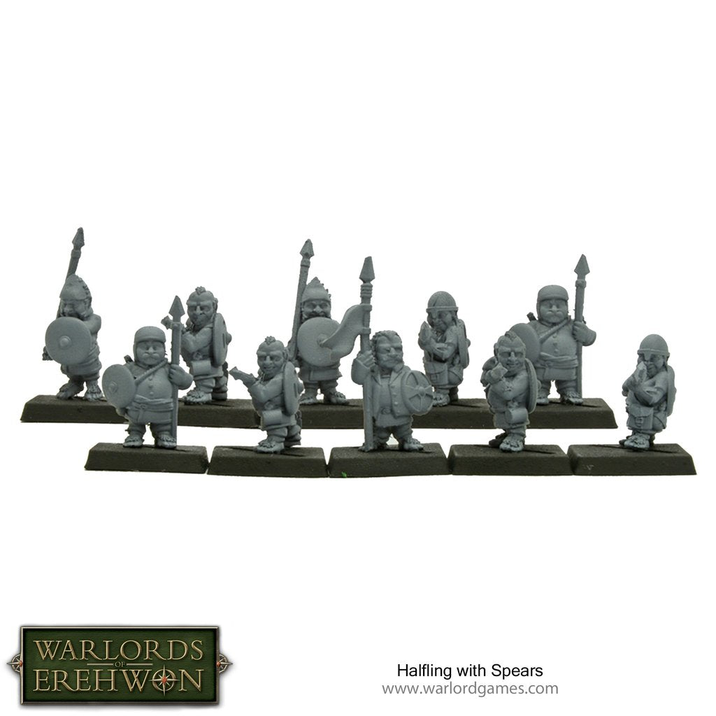 Halfling-infantry-armed-with Spears-resin-models