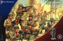 Load image into Gallery viewer, Plastics American US WW2 Infantry miniatures Perry