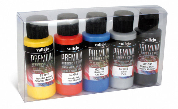 Premium Color 60ml Set - Metallic Colours (5 x 60ml)