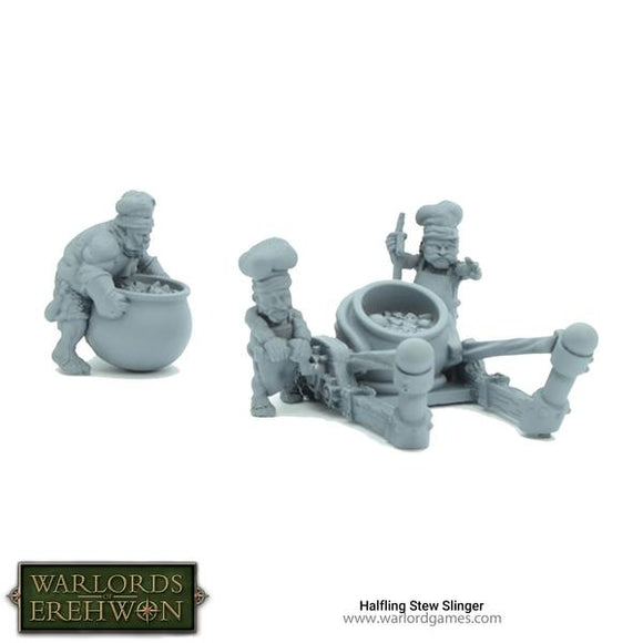 Resin-fanatsy-miniatures-halflings-artillery-cook-pot