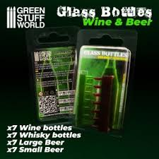 Wine and Beer Bottles Resin Set