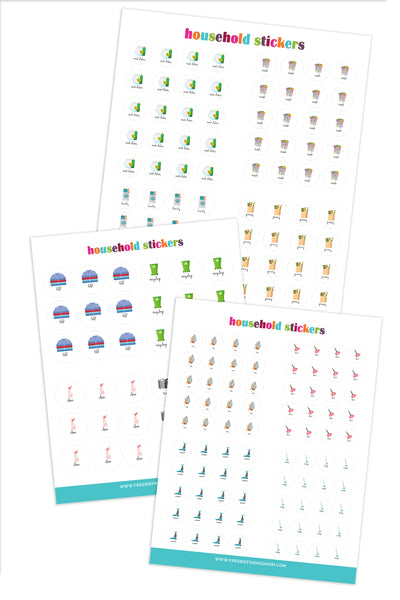 Cleaning Planner Stickers (6 Pages)