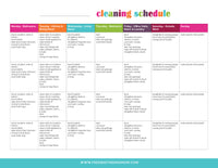 Cleaning Schedule (2 Pages)