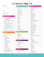 Cruise Packing List (2 Pages)