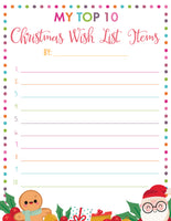 My Top Ten Christmas Wish List