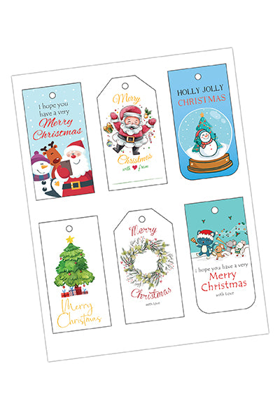 Christmas Tags Bundle (6 Styles Included)