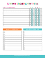 The Ultimate Cleaning Checklist Bundle (29 Pages)