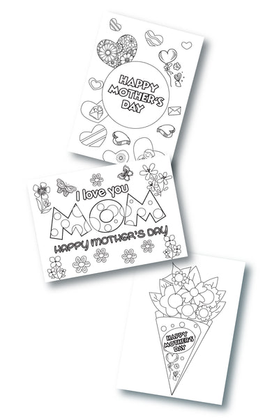 3 Printable Mother's Day Cards to Color