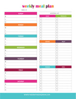 Weekly Meal Planner (2 Pages)