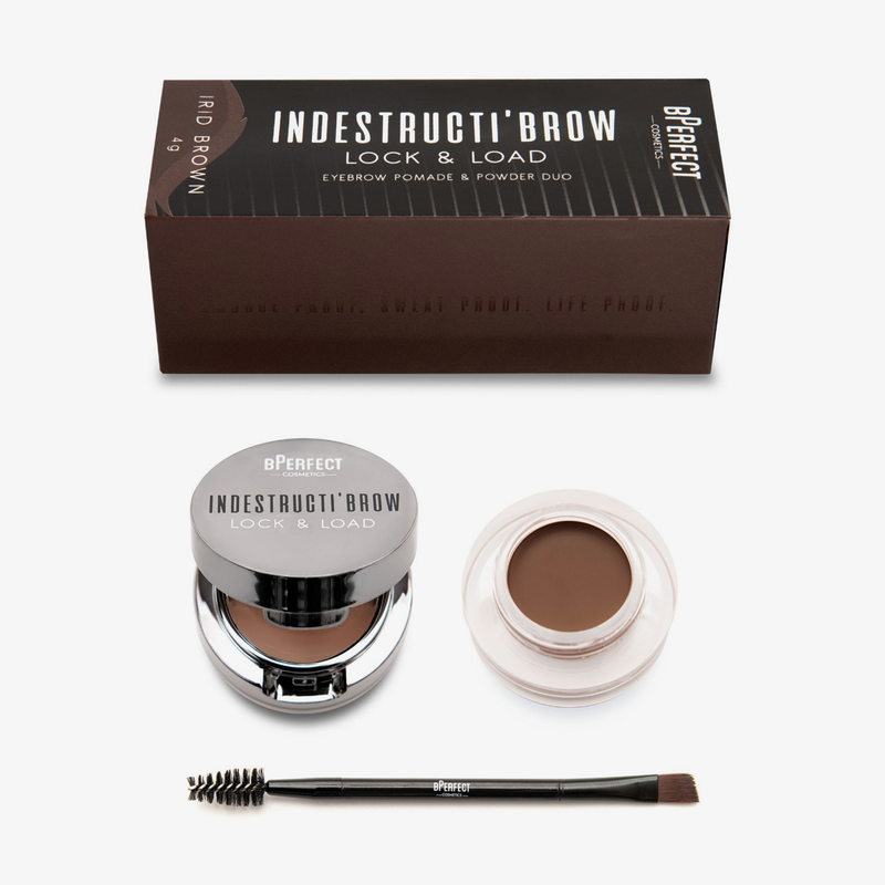 BPerfect Cosmetics | Indestruci'Brow Lock and Load Eye Brow Set Irid Brown