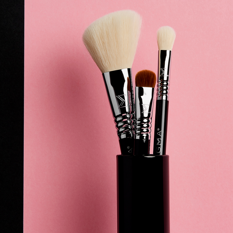 Sigma Beauty | Essential Trio Brush Set Black