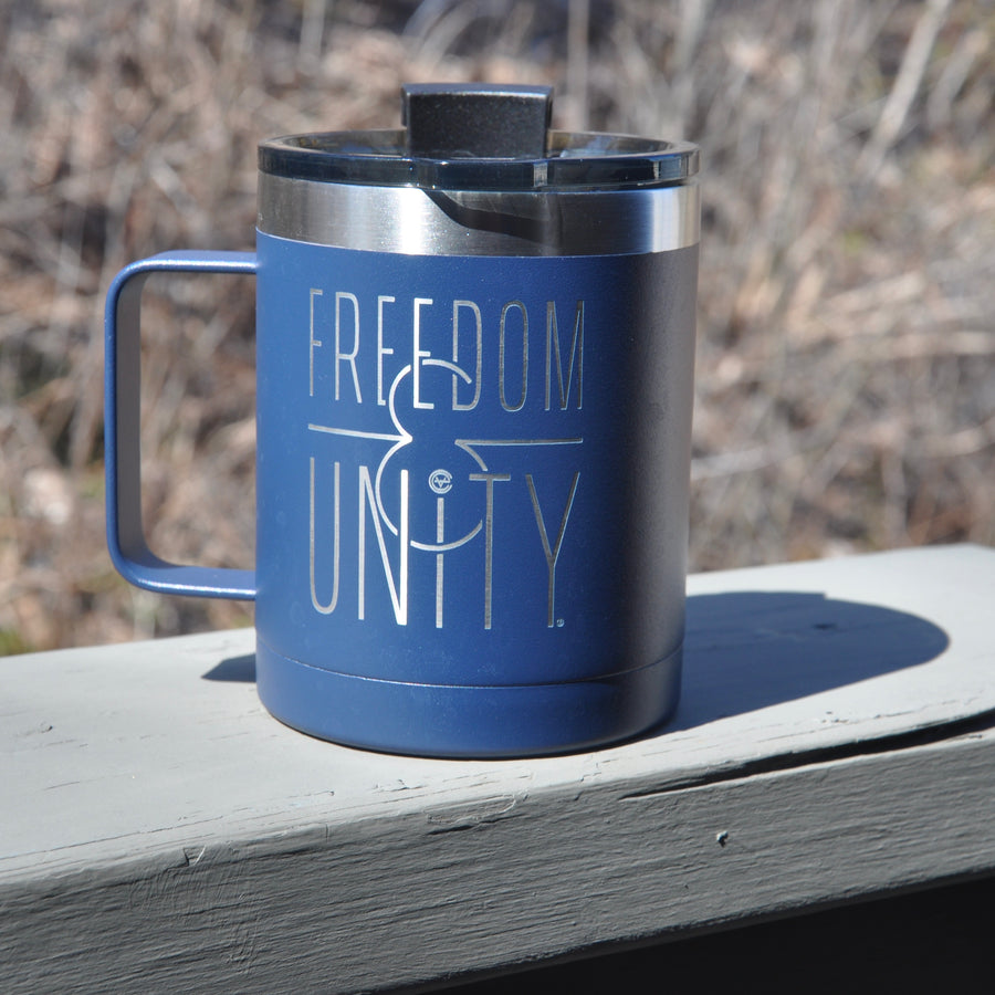 Freedom & Unity RTIC 12 oz Navy Coffee Mug