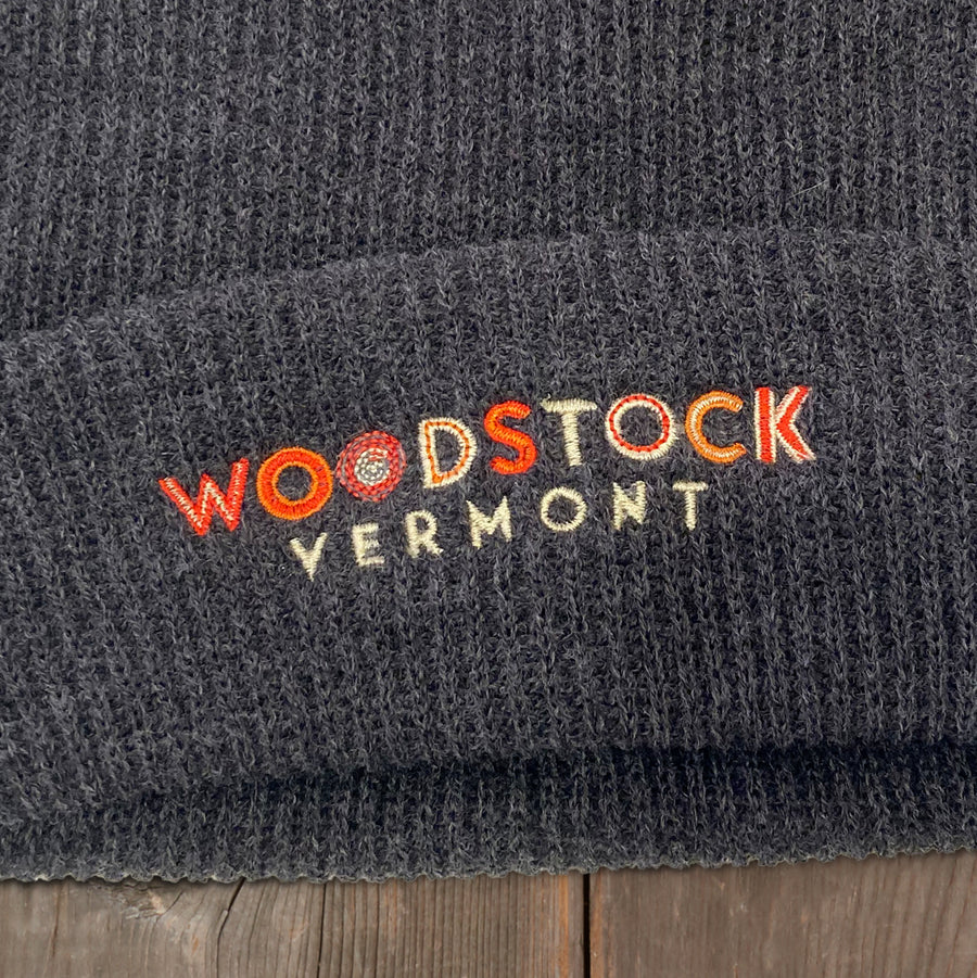 Woodstock Super Slouch Knit Beanie (Black)