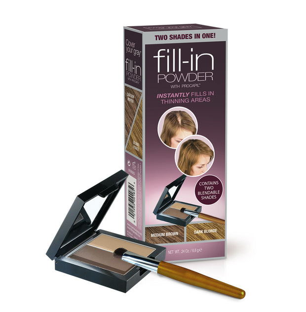 Cover Your Gray Fill-in Powder Two Shades in One - Cover Your Gray - Cover Gray Hair, Roots, and Thinning Hair in Seconds