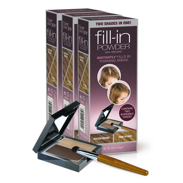 Fill-in Powder Two Shades in One - Value 3-Packs - coveryourgray
